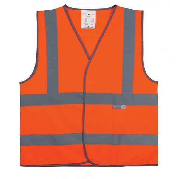 Gilet de sécurité Orange 4 bandes -du M au XXL