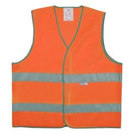 Gilet de sécurité orange 2 bandes rétroréfléchissantes