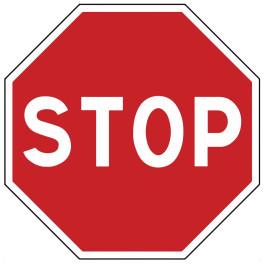 Panneau de circulation Plat Aludibond - Stop