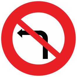 Panneau de circulation Plat Aludibond - Interdiction de tourner à gauche