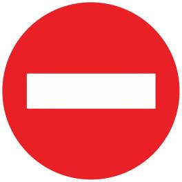 Panneau de circulation Plat Aludibond - Sens interdit