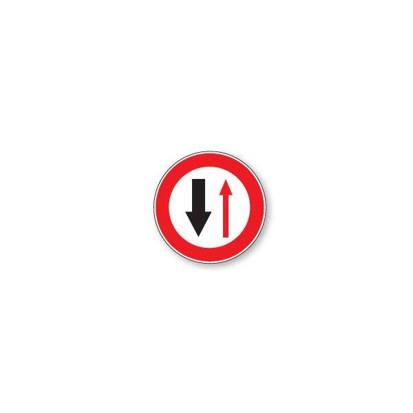 Panneau de circulation Plat Aludibond - Cédez le passage circulation sens inverse