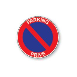 Panneau de circulation Plat Aludibond - Parking privé
