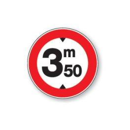 Panneau de circulation Plat Aludibond - Hauteur limitée 3m50
