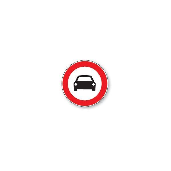 Panneau de circulation Plat Aludibond - Interdit aux voitures