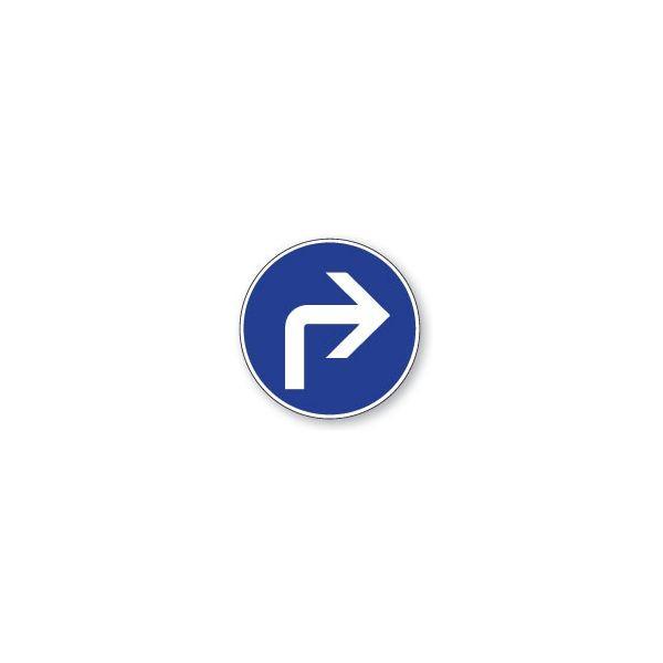 Panneau de circulation Plat Aludibond - Direction obligatoire à droite