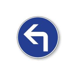 Panneau de circulation Plat Aludibond - Direction obligatoire à gauche