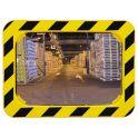 Miroir de sécurité Jaune et noir rectangulaire 600 x 400 mm - Polymir