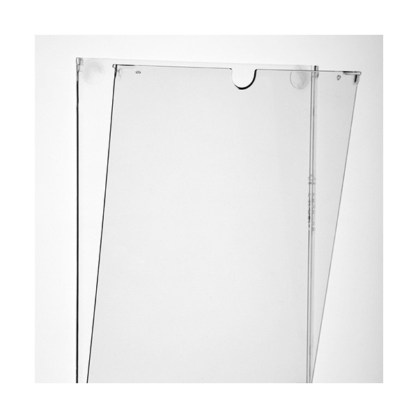 Porte document mural plat transparent a4 vertical for Porte document mural metal