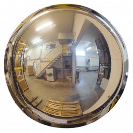 Miroir hémisphérique vertical de sécurité - 1/2 - Polymir - 3 tailles