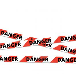 "Ruban de chantier ""DANGER"" - 100m*50mm - Rouge & Blanc"