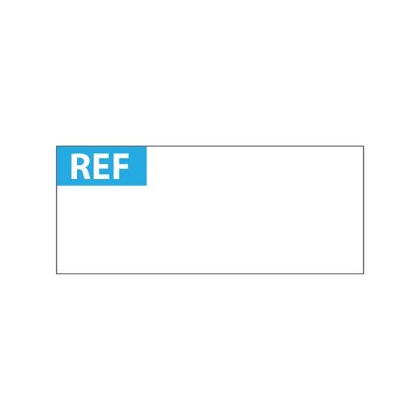 """Lot étiquettes d'inspection """"REF"""" tissu plastifié"""
