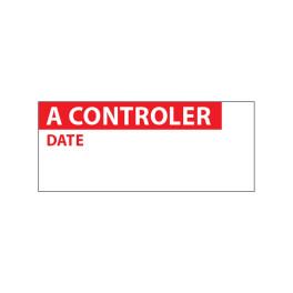 """Lot étiquettes d'inspection """"A contrôler"""" tissu plastifié"""