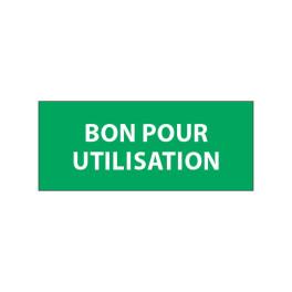 """Lot étiquettes d'inspection """"Bon pour Utilisation"""" tissu plastifié"""