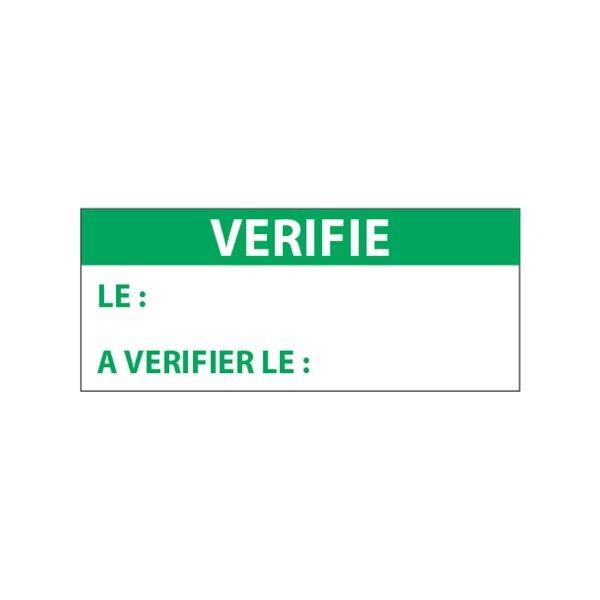 """Lot étiquettes d'inspection """"Vérifié"""" tissu plastifié"""