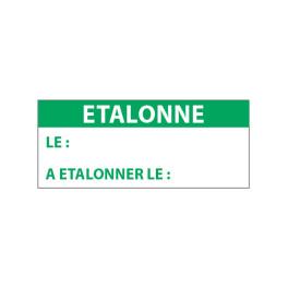 """Lot étiquettes d'inspection """"Etalonné le..."""" tissu plastifié"""