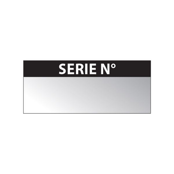 """Etiquette Aluminium """"Serie N"""""""