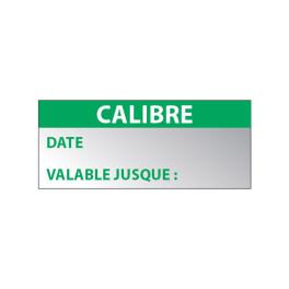 """Etiquette Aluminium """"Calibre Date"""""""