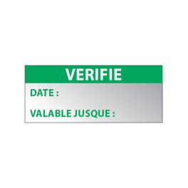 """Lot étiquettes Aluminium """"Vérifié"""""""