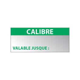 """Lot étiquettes Aluminium """"Calibre"""""""
