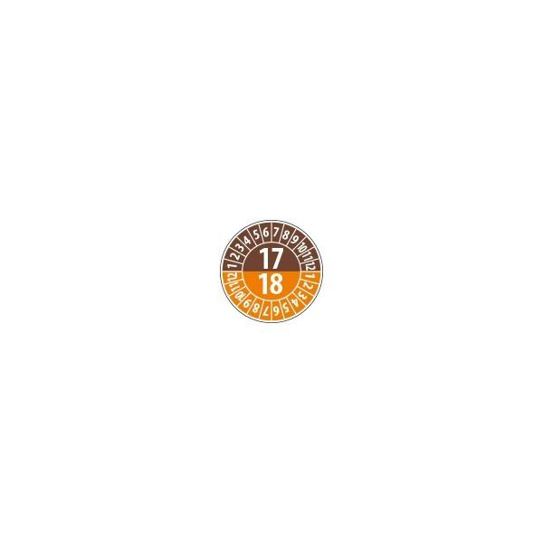 Pastille calendrier année double 2017/2018 - 4 matériaux