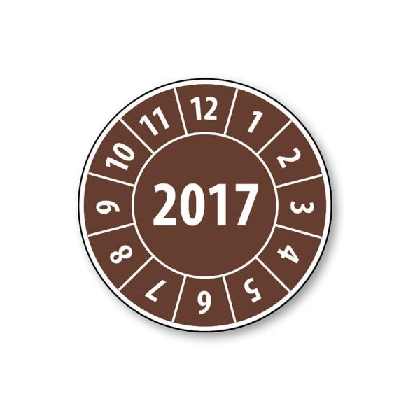 Pastille calendrier année complète 2017 - 4 matériaux