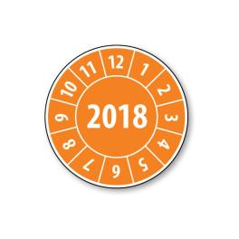 Pastille calendrier année complète 2018 - 4 matériaux