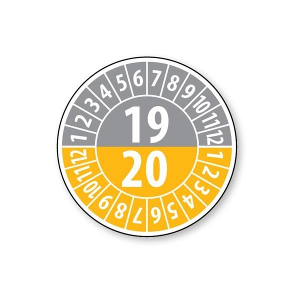 Pastille calendrier année double 2019/2020 - 4 matériaux