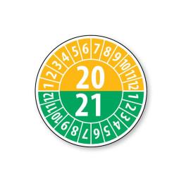 Pastille calendrier année double 2020/2021 - 4 matériaux