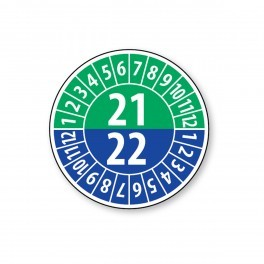 Pastille calendrier année double 2021/2022 - 4 matériaux