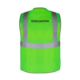 """Sur mesure - Gilet de sécurité vert à 3 bandes """"Evacuation"""""""