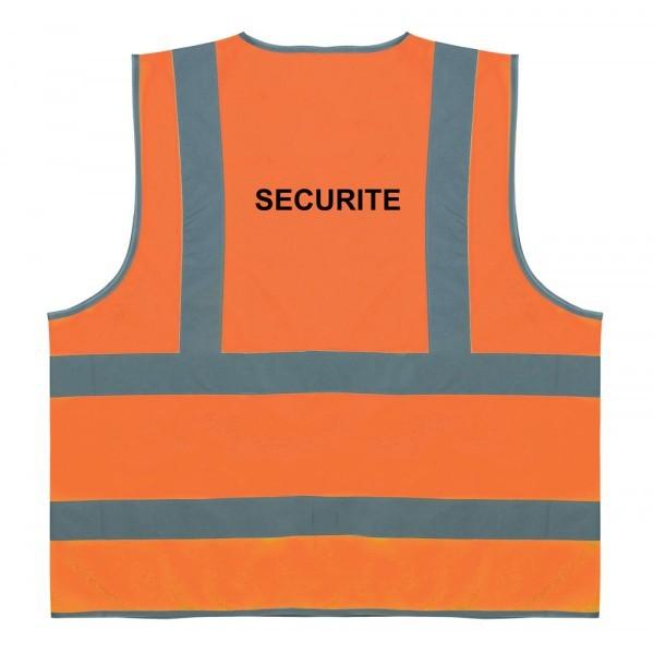 Gilet de sécurité Orange 4 bandes Sécurité Taille M à XXL