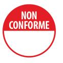 """Pastilles repositonnables rouges """"Non conforme"""" avec zone de texte"""