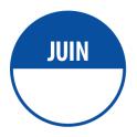 Pastilles JUIN avec zone de texte