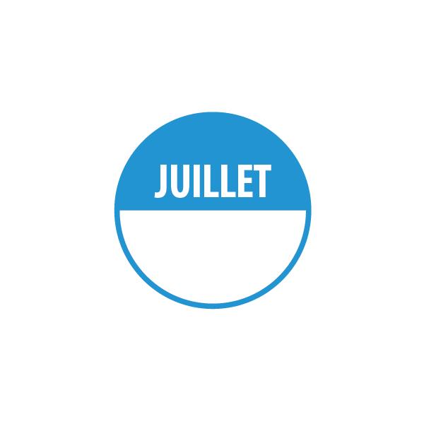 Pastilles JUILLET avec zone de texte
