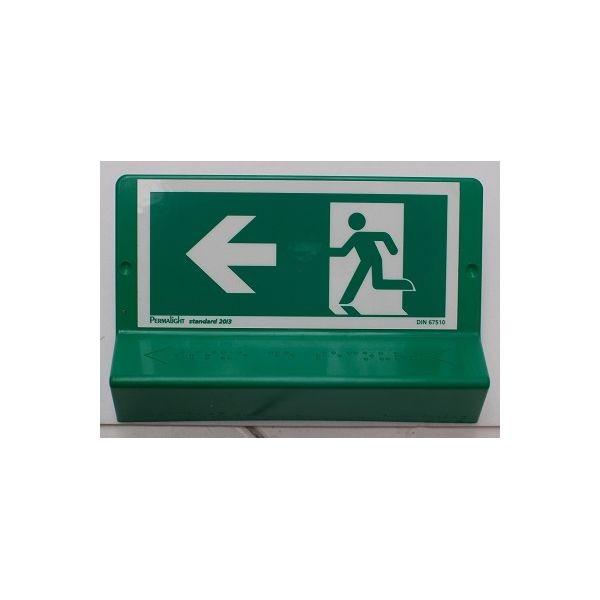 """Signalétique braille Issue de secours"""" - Flèches droite ou gauche"""