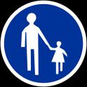 Panneau d'Obligation B22b : Chemin Piéton Obligatoire