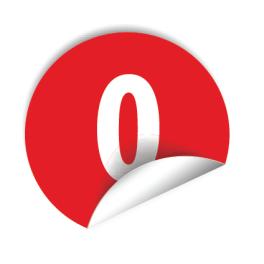 """Pastilles avec chiffre au choix de """"0"""" à """"9"""""""