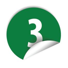 """Pastilles avec chiffre """"3"""""""