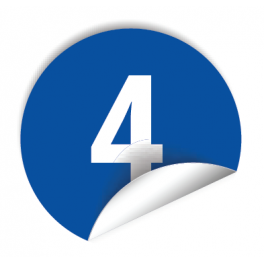 """Pastilles avec chiffre """"4"""""""