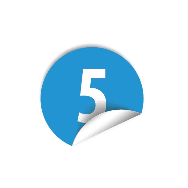 """Pastilles avec chiffre """"5"""""""