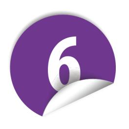 """Pastilles avec chiffre """"6"""""""