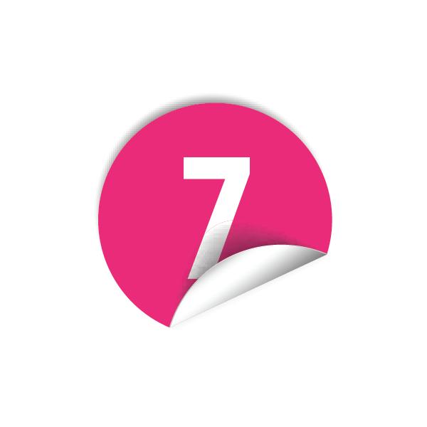 """Pastilles avec chiffre """"7"""""""