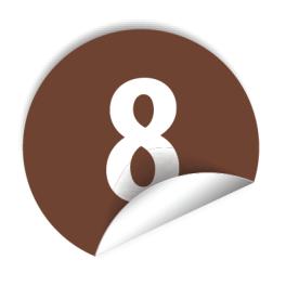"""Pastilles avec chiffre """"8"""""""