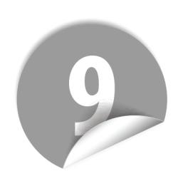 """Pastilles avec chiffre """"9"""""""