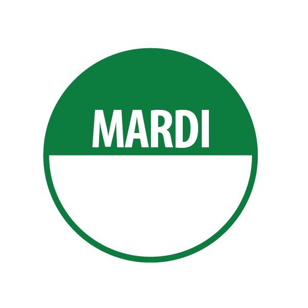 "Pastilles""MARDI"" + Zone de Texte"