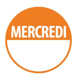 "Pastilles ""MERCREDI"" + Zone de Texte"