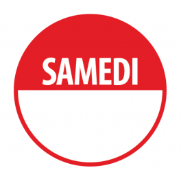 "Pastilles ""SAMEDI"" + Zone de Texte"