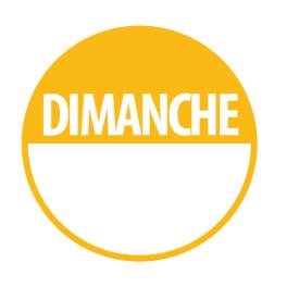 """Pastilles """"DIMANCHE"""" + Zone de Texte"""
