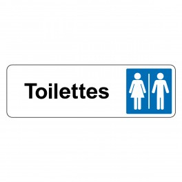 """Panneau de Signalétique """"Toilettes Mixte Femme/Homme"""""""